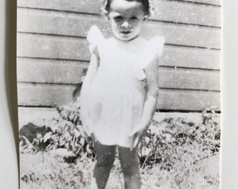 Original Vintage Photograph | The Little Girl with the Curl