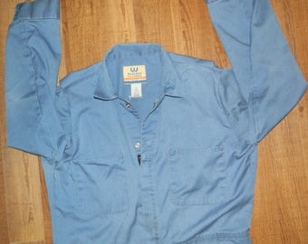 Mens Classic Marks Work Brand Blue Coveralls Size Large / 44x38x27