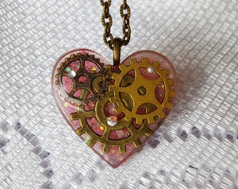 Mechanical Heart Necklace