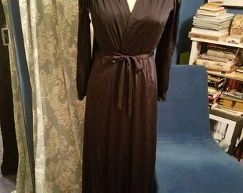Vintage 50s black lace robe Jane Mansfield