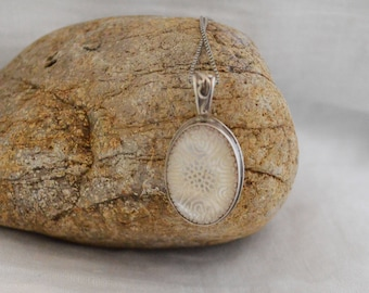 Etched Mother of Pearl Pendant/ Mother of Pearl Pendant/ Pearl Necklace