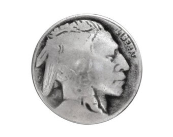 12 Indian Head 3/4 inch ( 20 mm ) Metal Buttons Silver Color