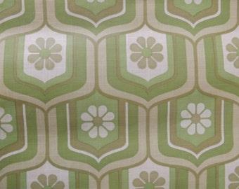 1 meter vintage green retro wallpaper by crown pop mod flower