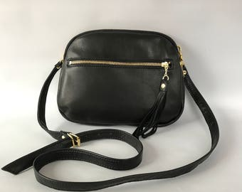 AW13 Leather bag in black