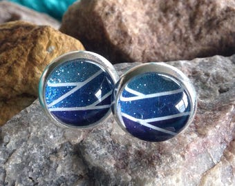 Stud Earrings - Sea Silver