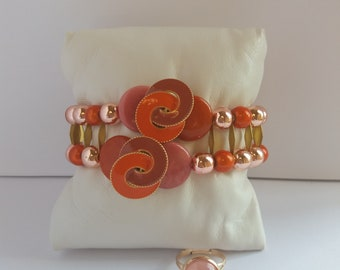 "Women ""Sweetness of Orange"" bracelet and ring available"