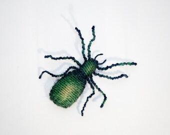 Macrame Spider - soft sculpture handmade with hemp string