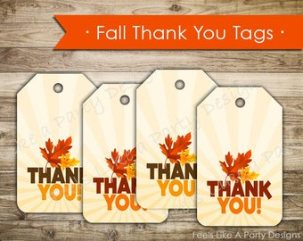 Fall Festival Thank You Tags- Instant Download