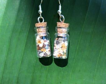 Sea Glass Earrings, Sea Glass Jewelry, Beach Jewelry, Gift For Her, Bottle Earrings, Sea Glass, Earrings, Dangle Earrings, Gift For Her
