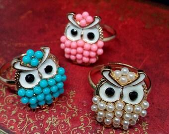 Cute Kawaii Owl Adjustable Ring