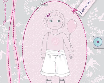 Pattern 2-3-4 years Manon Culottes