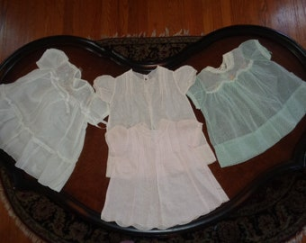 Charming collection of vintage baby girl dresses Lot of 4 Vintage Dresses