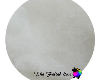 Needle Felting Wool Batt / DR2 Blinded by the White Carded Wool Batt