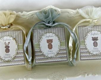 Baby Shower Soap Favors, Woodland Favors, set of 12, baby boy favors