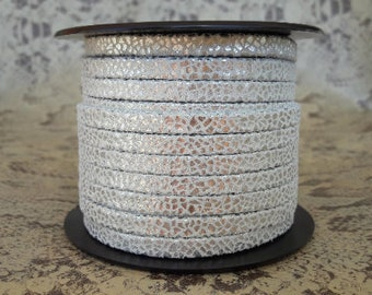 flat 5mm double silver Crackle high European quality leather strap