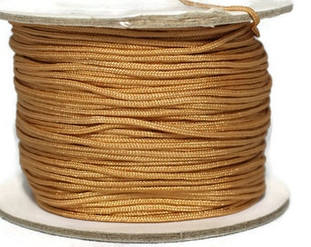 50 m / 55 yard 0.8 mm Nylon Chinese Knotting Cord, Sandy Brown Shamballa Macrame, Jewelry Supplies, 0 8mm Cord, Bracelet Making