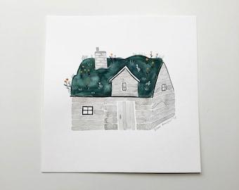 Turf House (original painting)