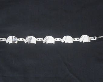 """ELEPHANT sterling silver 925 VINTAGE bracelet 7"""" inches so CUTE"""
