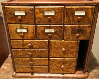 ANTIQUE Tiger Oak File drawer cabinet