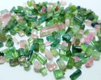 200 Carats Mix Color Tourmaline Crystals from Afghanistan