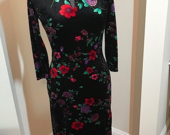 Betsey Johnson New with Tags Suzie Dress in  Stretch Velvet