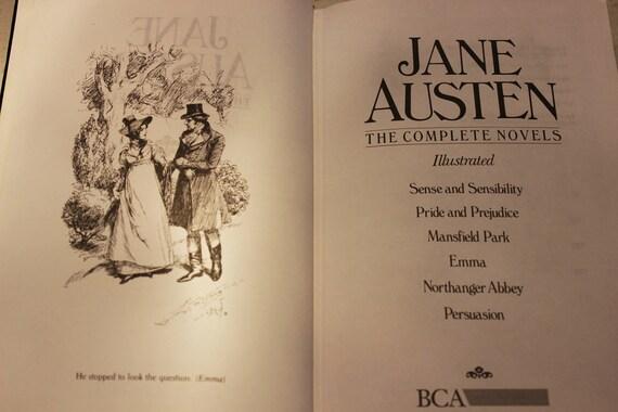 Jane Austen Complete Novels Illustrated Handsome Vintage Black