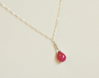 Genuine ruby necklace gold filled necklace natural ruby july ruby necklace sterling silver necklace genuine ruby necklace natural ruby red pink ruby gemstone jewelry womens gift gifts for her mozeypictures Gallery