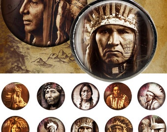 "Indians 25mm - One 4x6 high-resolution, 300dpi, JPEG file with 15 1"" Circle images."
