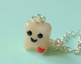 Dental Assistant Gifts, Dental Assistant, Tooth Charm Necklace, Polymer Clay, Dentist, Tooth Fairy Gift, Dental Gift, Dental Hygienist