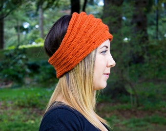Pumpkin Orange Headband - Panta Finnish Headband - Ear Warmers - Boho Headband - Hair Accessory - Orange Hair Band - Acrylic - Gift For Her