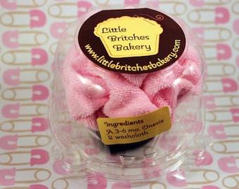 It's a girl: single pack of onesie cupcake