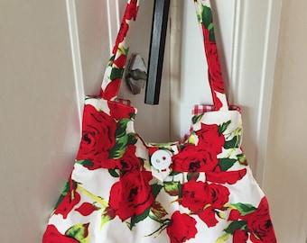 Rose print bag.
