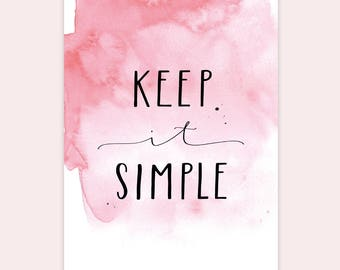 "Postcard ""Keep it Simple"""