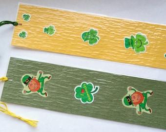 Handmade Shamrocks/Leprechaun Bookmarkers
