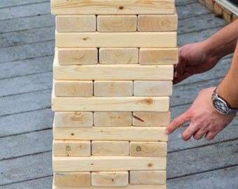 Giant Jenga Yard Game summer party cookout