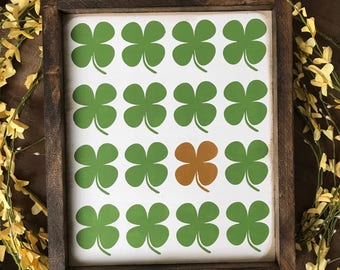 Lucky Clovers • St Patrick's Day Farmhouse Style Sign