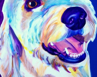 Goldendoodle, Pet Portrait, DawgArt, Dog Art, Pet Portrait Artist, Colorful Pet Portrait, Goldendoodle Art, Art Prints