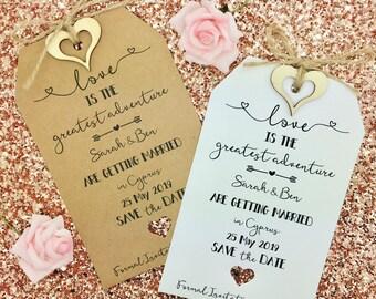 Wedding Abroad, Destination Wedding, Save The Date Invitation, Sandy Toes