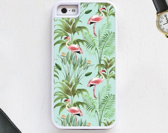 Animal cartoon Flamingo Bird in nature pink on blue Cell Phone Case protective bumper cover iPhone6 iPhone7 Android s5 s6 s7 note4 note156