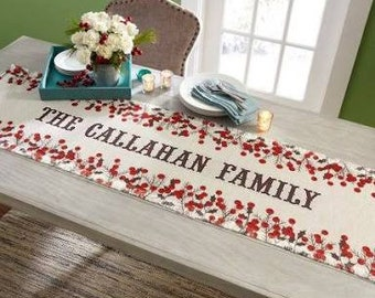 Personalized photo table runner