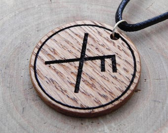 Rune spell talisman Gibo and Auja for Good Luck , Vikings jewerly, runic magic