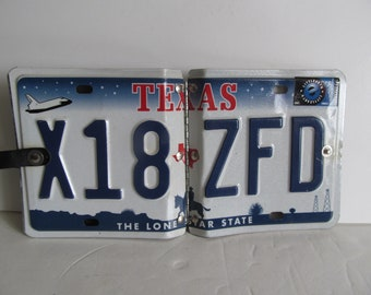 Texas License Plate Upcycled Man Cave Decor Garage Decor License Plate Photo Album Mens Gift Ideas Fathers day Gift