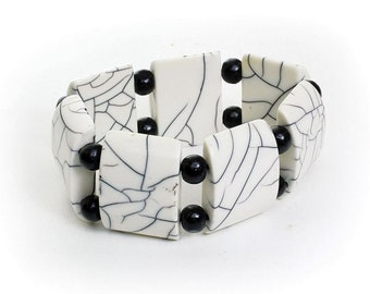 Handmade  Large White Bone Bracelet