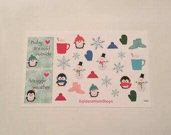 Winter Sampler Sticker Set - S062