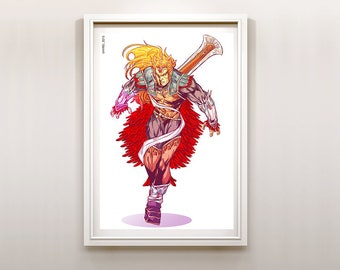 The Legend of Zelda Dangerous Bird Ganondorf Art Print Poster