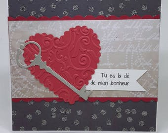 """""""Key to heart"""" Valentine's Day card"""