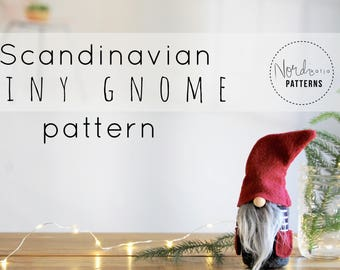 Scandinavian TINY gnome  pattern by NORDIKatja , do it yourself, DIY , PDF download pattern for Tomte or Nisse