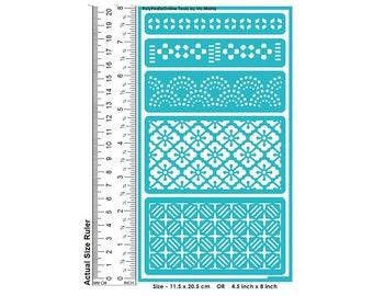 Stencil, Reusable, Adhesive, Pattern Stencil, Wall Stencil, Painting stencil, Craft Stencil, Tattoo, DIY, Scrapbook, Symmetric, Geometric