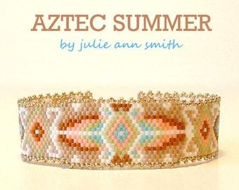 Julie Ann Smith Designs AZTEC SUMMER Odd Count Peyote Bracelet Pattern