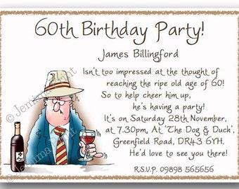 Printed personalised biker birthday party invitations 30th printed personalised birthday party invitations 30th 40th 50th 60th 70th 80th filmwisefo Gallery